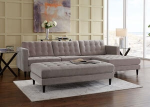 Sydney 2pc Sectional Sydney Gray