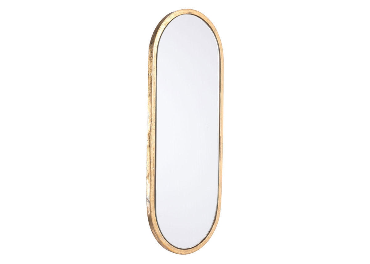 Oval Mirror Yellow