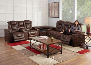 Gibson Power Sectional w/Power Headrests