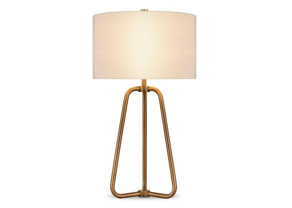 Marduk Brass Table Lamp Yellow