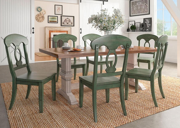 Lakewood Sage 5 Pc. Dinette w/Napoleon Back Chairs
