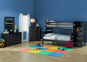 Catalina 5 PC T/F BLK BUNK BDRM W/STRCS
