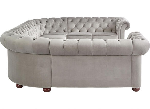 Barrington Gray Velvet 9-Seat U Sectional