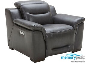 Callisto Charcoal Power Recliner w/Power adjustable Headrests