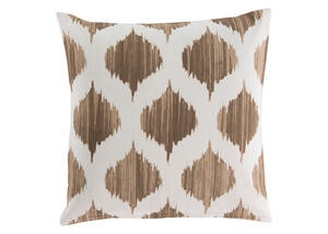 Ogee Throw Pillow Tan