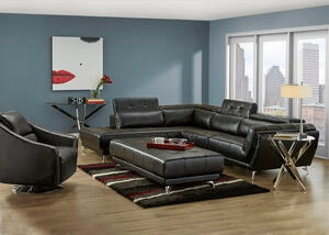 Mars Black 2 Pc. Sectional (Reverse)