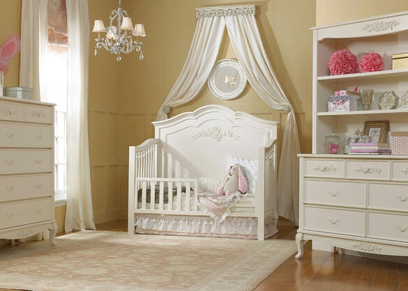 Angelina French Vanilla Convertible Crib by Dolce Babi