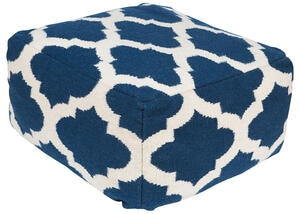 Woven Navy 24 Inch Pouf Navy