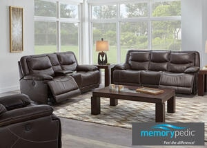 Rover Leather 3 Pc. Power Living Room w/Power Headrests