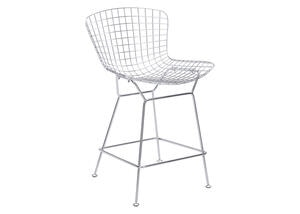 Wire Counter Chair Chrome Silver