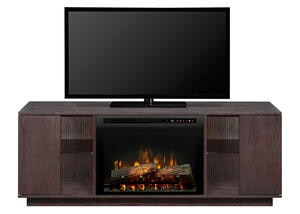 Dimplex Flex Lex Brown Fireplace
