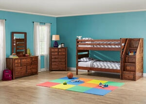 Catalina Chestnut 6 Pc. Twin Bunk Bedroom