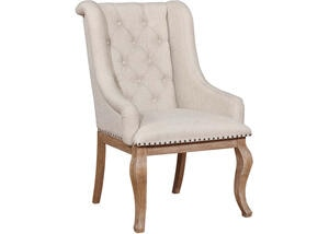 Glen Cove Barley Brown Arm Chair by Scott Living