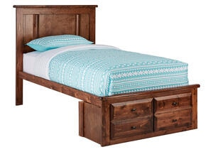 CATALINA TWIN PLATFORM BED CH CHESTNUT