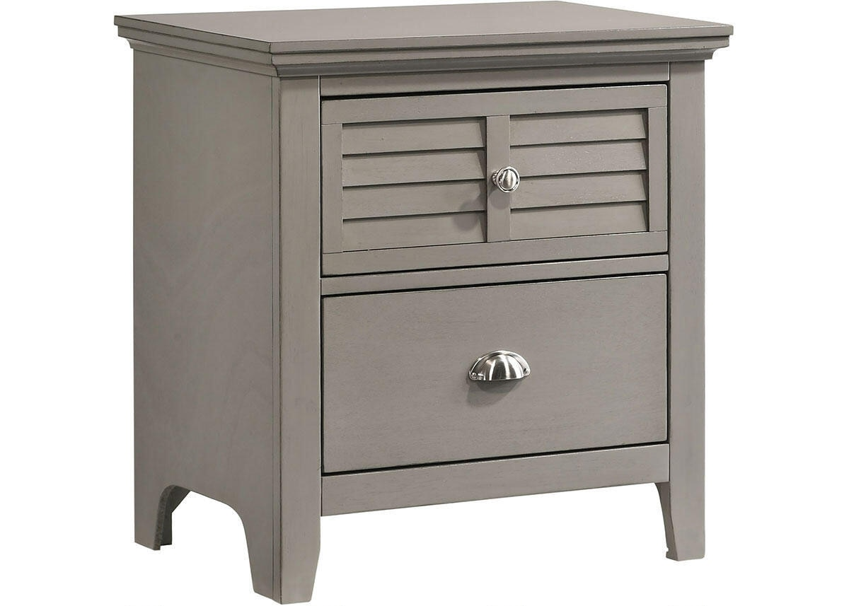 Malibu Gray Nightstand