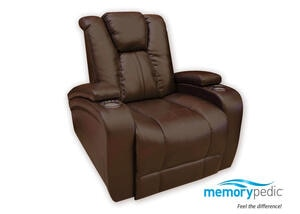 Matrix Brown Power Recliner w/Power Headrest