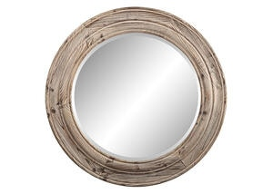 Porthole Mirror Brown