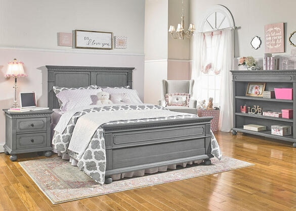 Naples Nantucket Gray Full Panel Convertible Crib by Dolce Babi